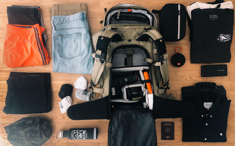 voyager leger sac à dos