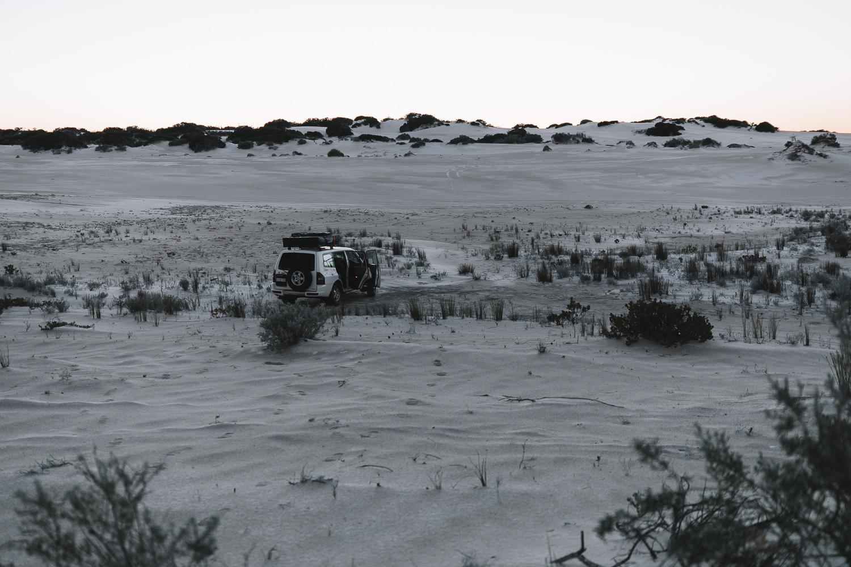 free camp ouest australie dans les dunes