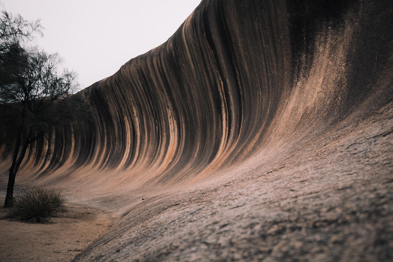 wave rock ouest australie
